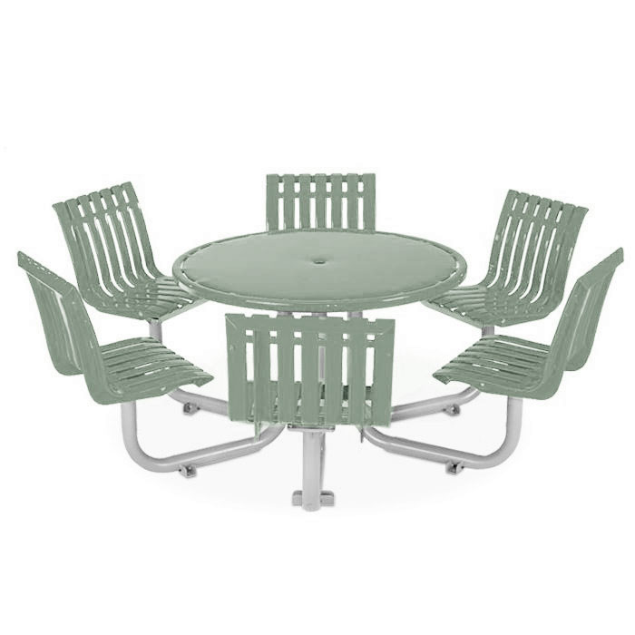 L1446S  Latitude Collection Table with (6) Swivel Contour Seats