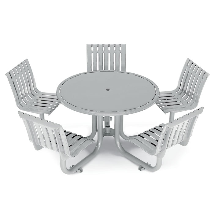 L1447  Latitude Collection Table with (5) Fixed Contour Seats