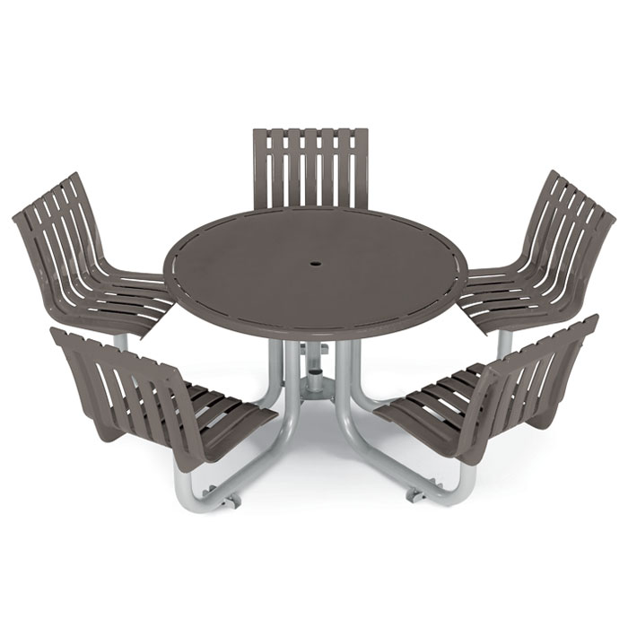 L1447S  Latitude Collection Table with (5) Swivel Contour Seats