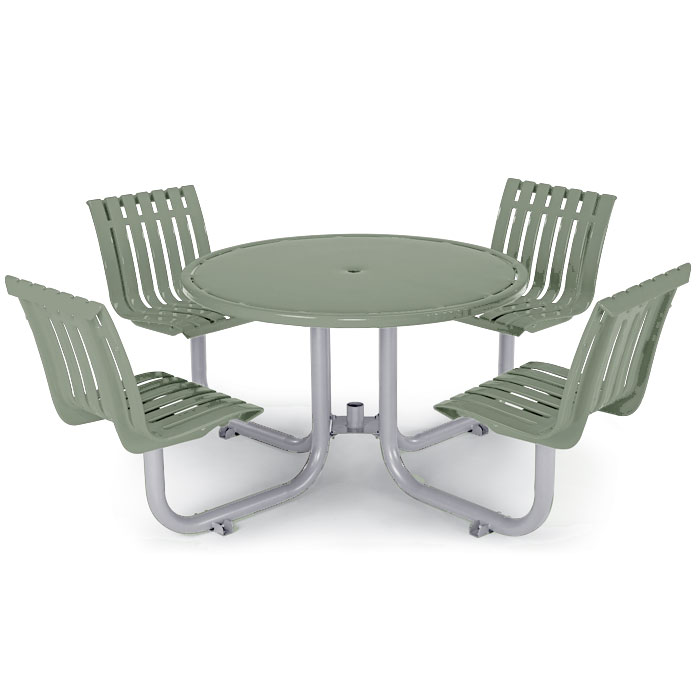 L1449S  Latitude Collection Table with (4) Swivel Contour Seats
