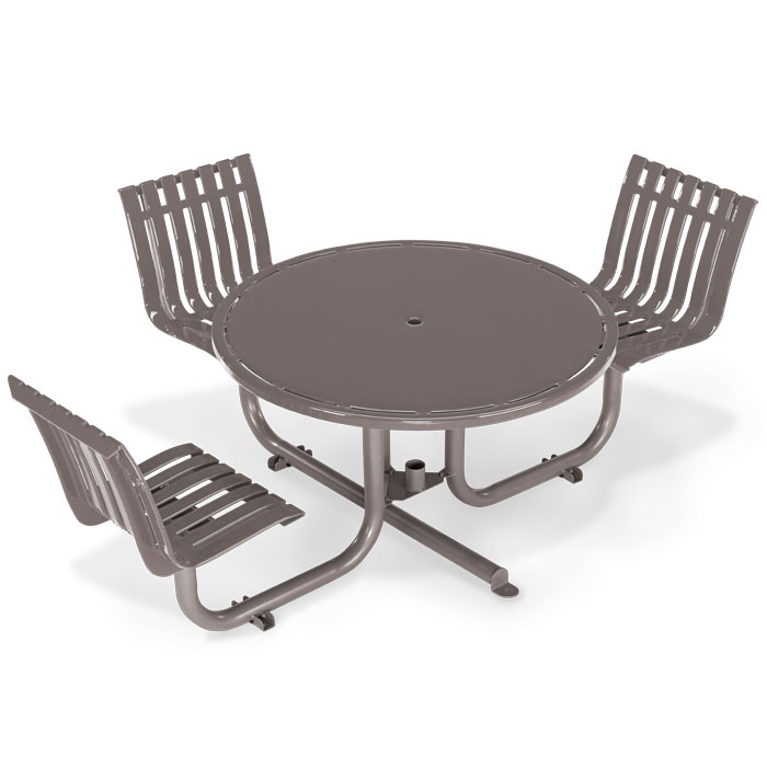 L1451  Latitude Collection ADA Compliant Table with (3) Fixed Contour Seats