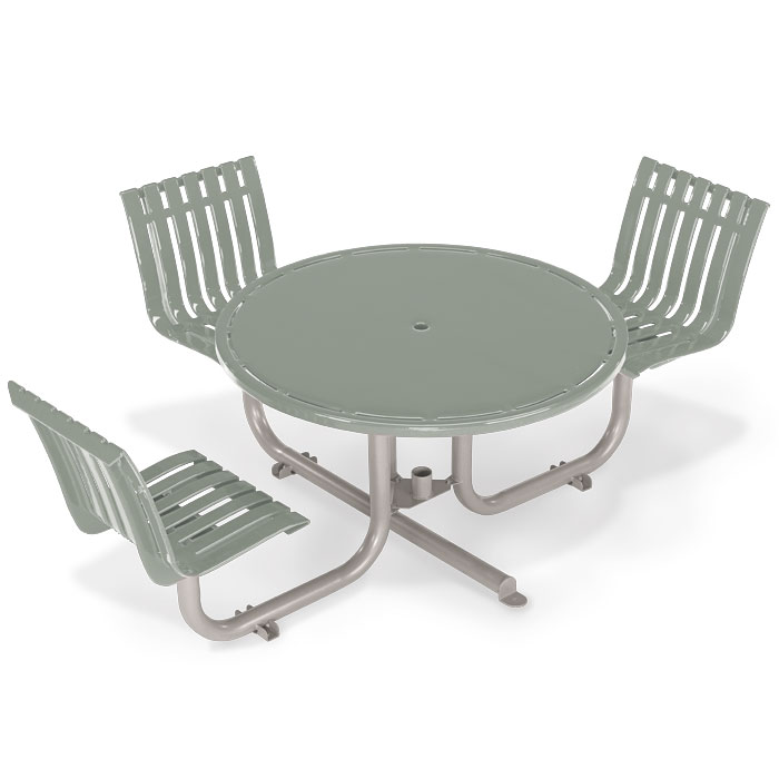 L1451S  Latitude Collection ADA Compliant Table with (3) Swivel Contour Seats
