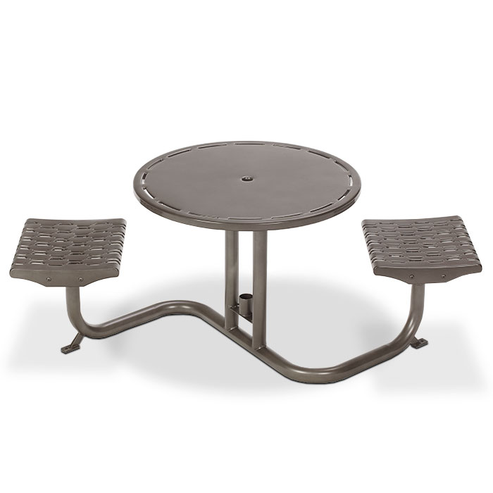 L1700  Cosmopolitan Bistro Table with (2) Fixed Flat Seats