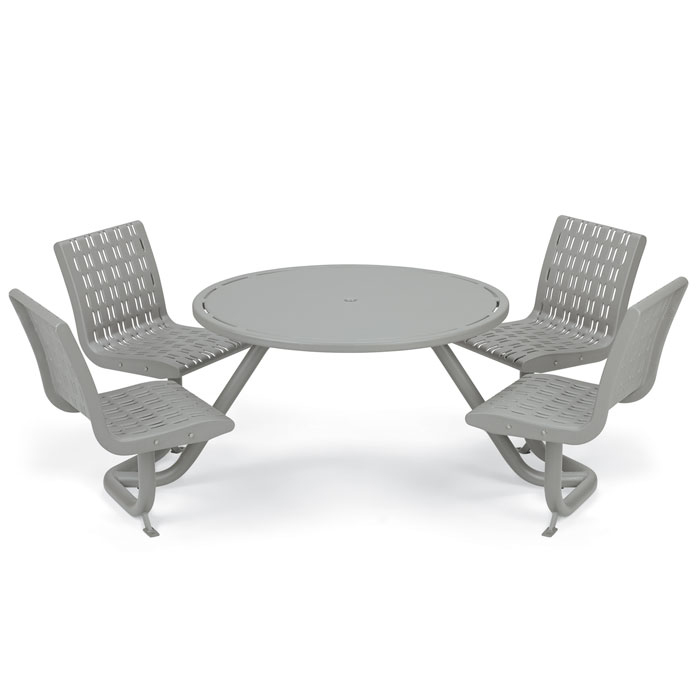 L1740  Cosmopolitan Table with (4) Fixed Contour Seats