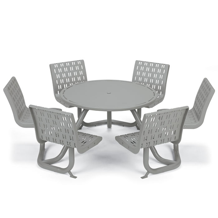 L1760  Cosmopolitan Table with (6) Fixed Contour Seats