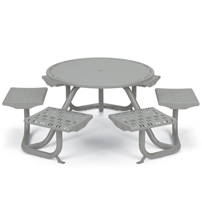L1761  Cosmopolitan Table with (6) Fixed Flat Seats