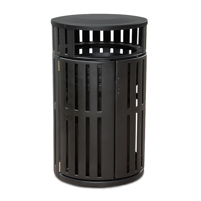 L2040  Latitude Collection 40 Gallon French Door Trash Receptacle with Bonnet Top