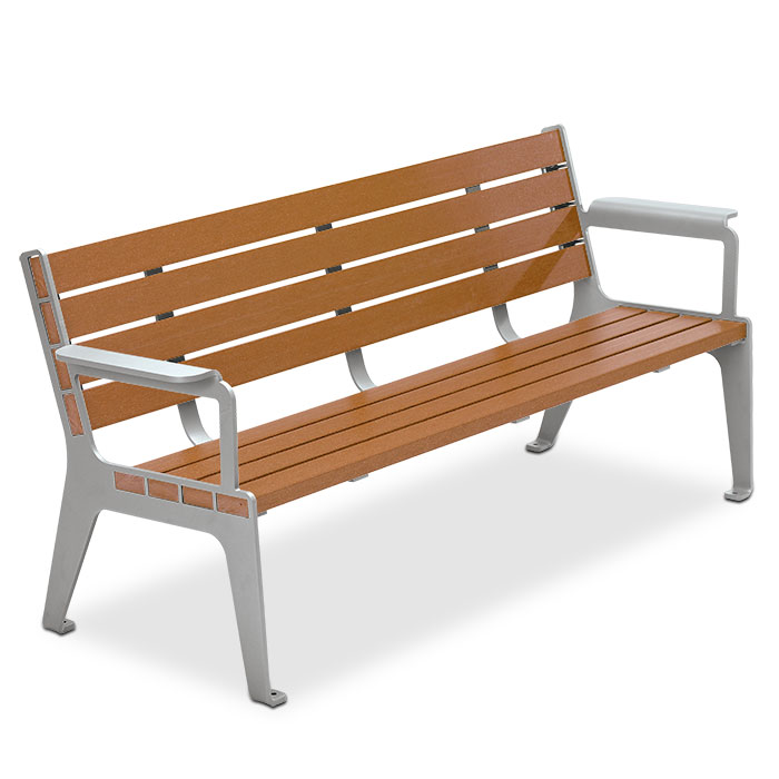 LBMC6  Madison Collection 6' Bamboo Contour Bench