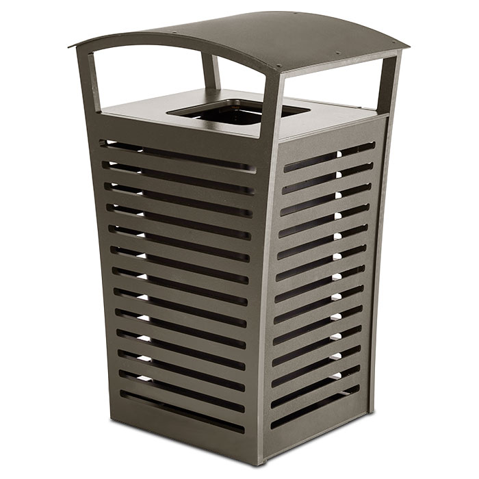 LEX22  Exposition 22 Gallon Trash Receptacle with Side Door