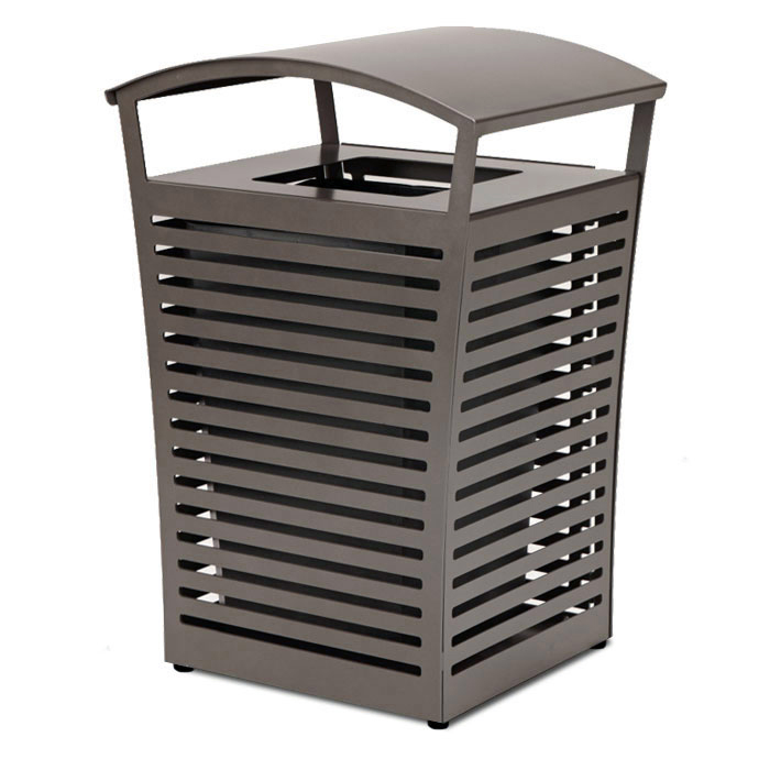 LEX33  Exposition 33 Gallon Trash Receptacle with Side Door