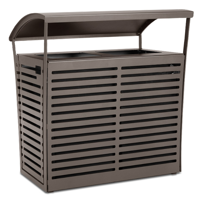 LEX70  Exposition 70 Gallon Dual Trash Receptacle with Side Doors
