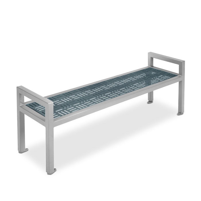 M2026  Element Collection 6' Flat Bench with Armrests