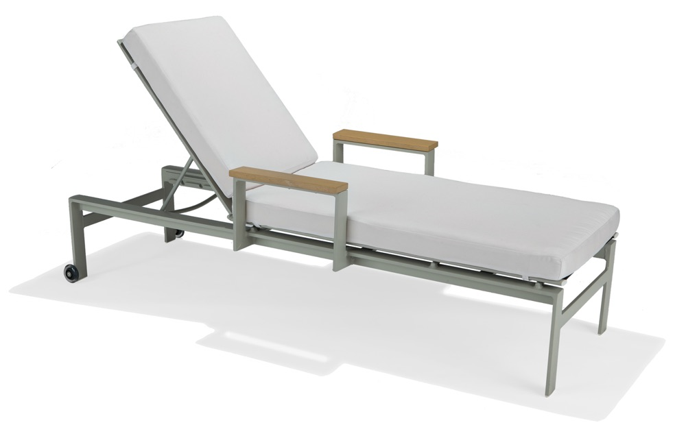M32009  Vibe Modular Collection Chaise Lounge with Wheels