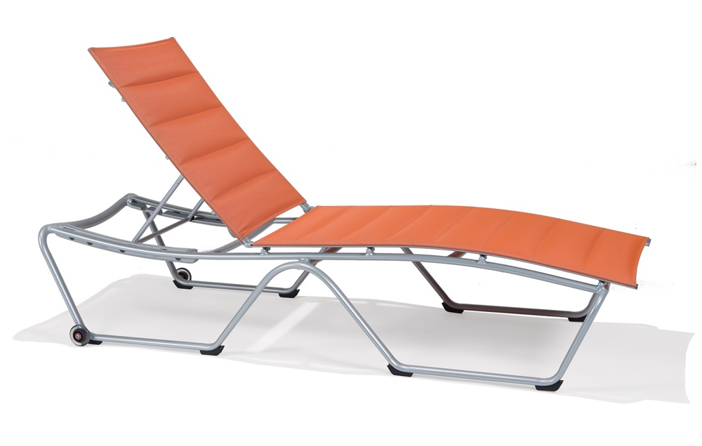 M4909PS  Shoreline Padded Sling Collection Chaise Lounge with Wheels