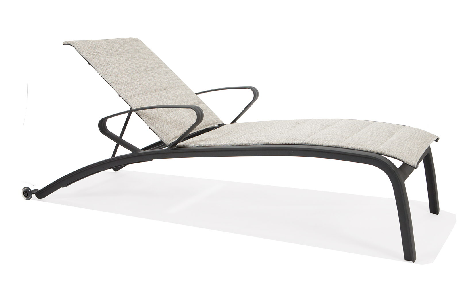 M5209S  Edge Padded Sling Collection Chaise Lounge with Arms