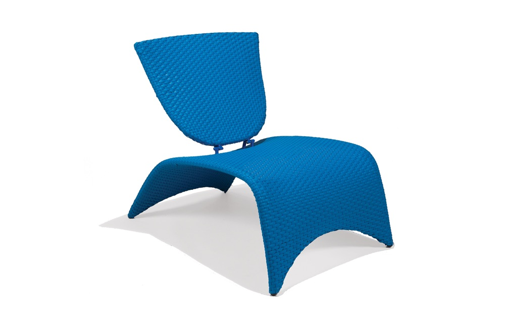 M87002BLU  Zuma Collection Lounge Chair with Folding Back (Blue)