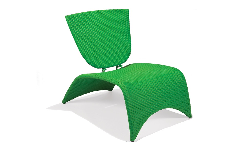 M87002LIM  Zuma Collection Lounge Chair with Folding Back (Lime)