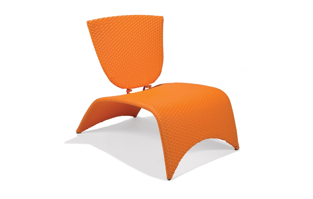 M87002ORG  Zuma Collection Lounge Chair with Folding Back (Orange)