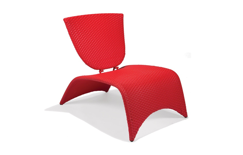 M87002RED  Zuma Collection Lounge Chair with Folding Back (Red)