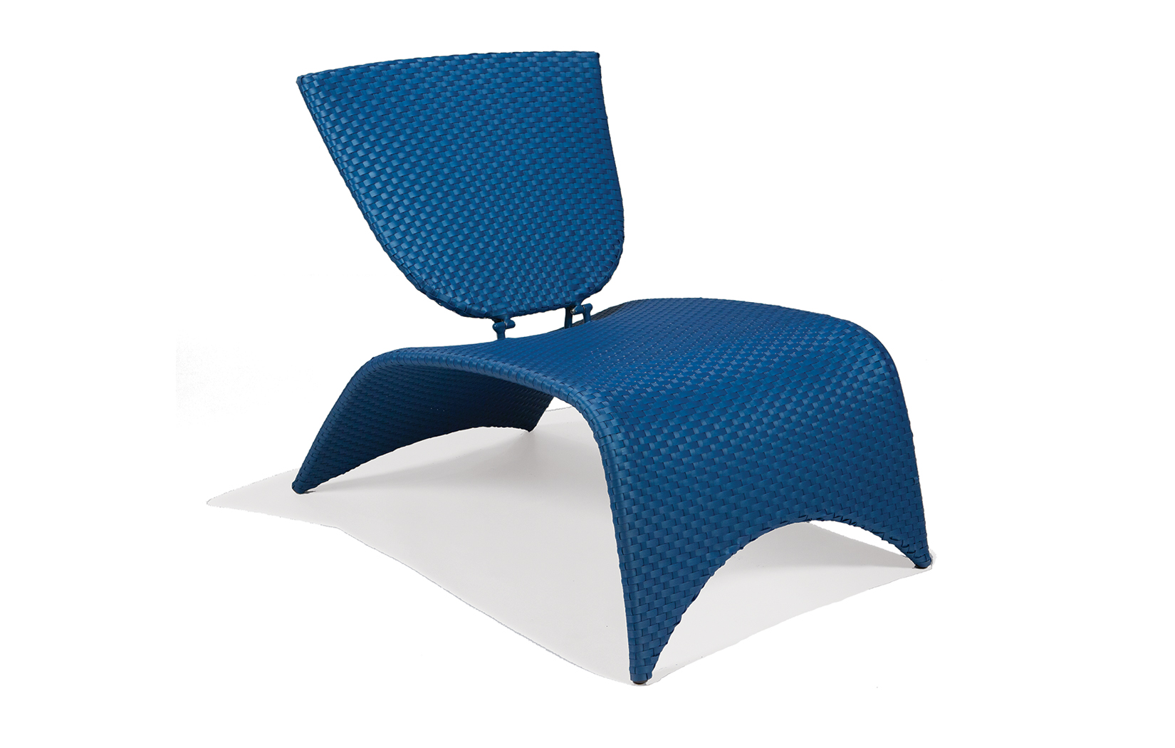 M87002SAP  Zuma Collection Lounge Chair with Folding Back (Sapphire)