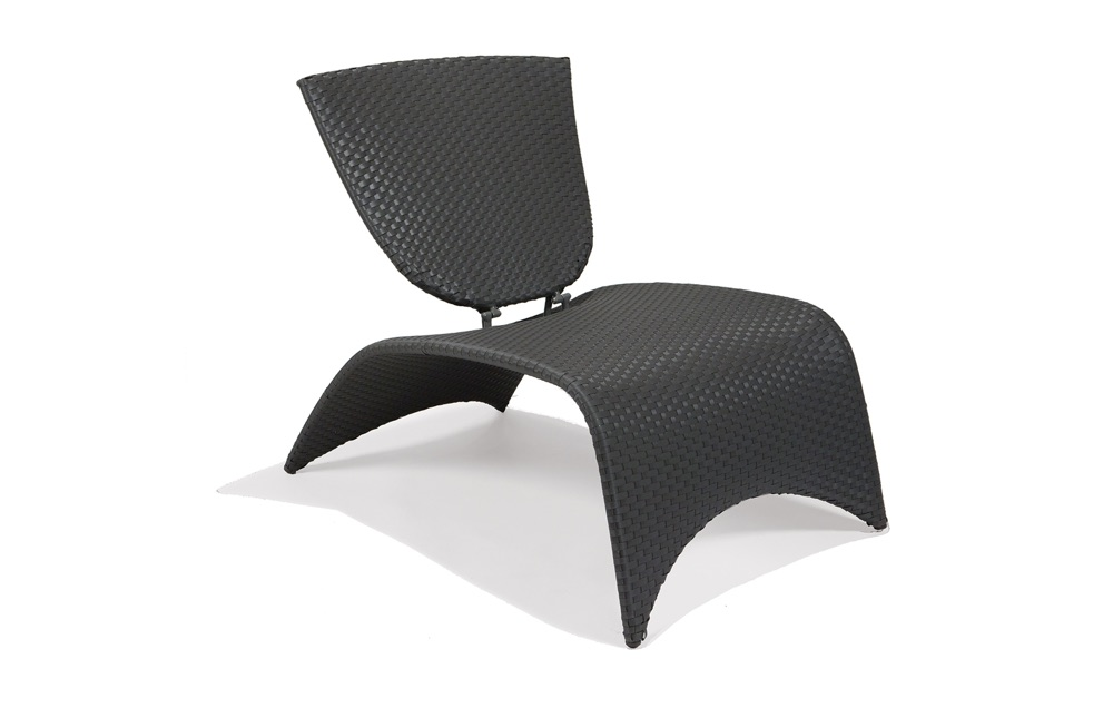 M87002SLT  Zuma Collection Lounge Chair with Folding Back (Slate)