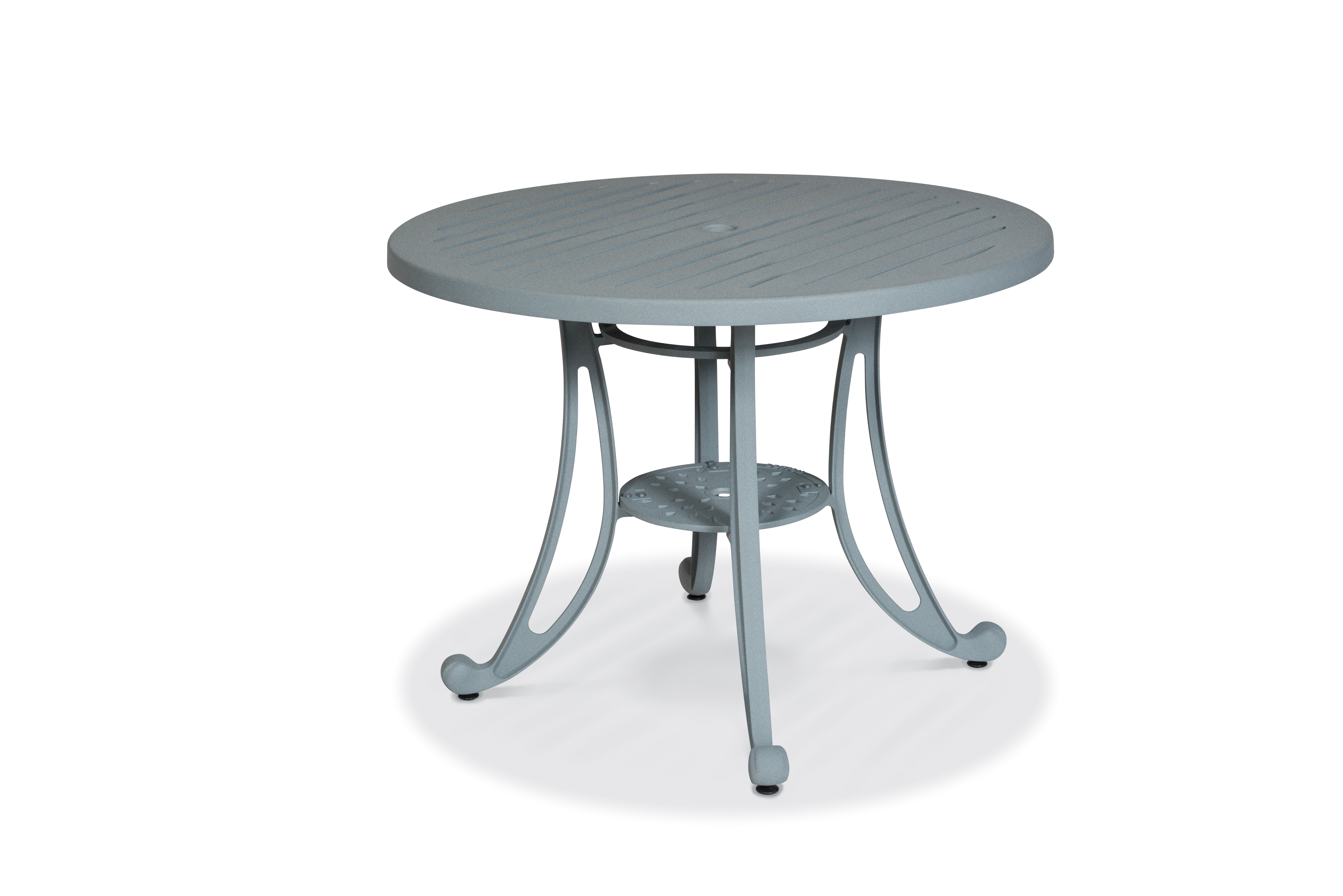 MA2H39C  Madison Collection Round Table with Horzontal Slat Table Top