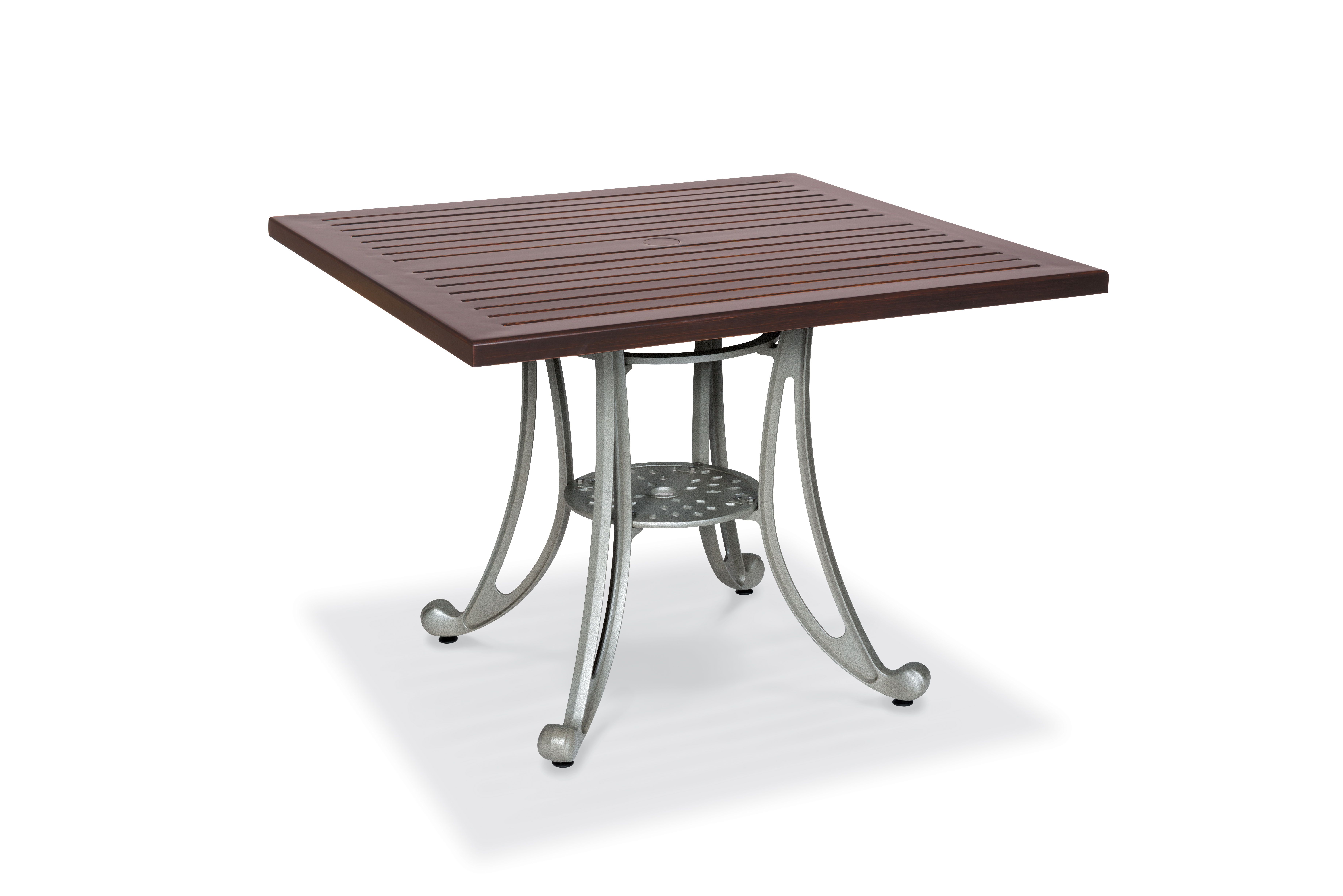 MA2W32C  Madison Collection Square Table with Horizontal Slat Table Top