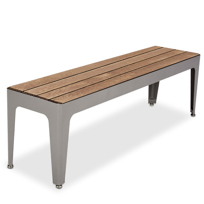 MIX2960T  Mixx Collection 5' Thermory Slat Flat Bench