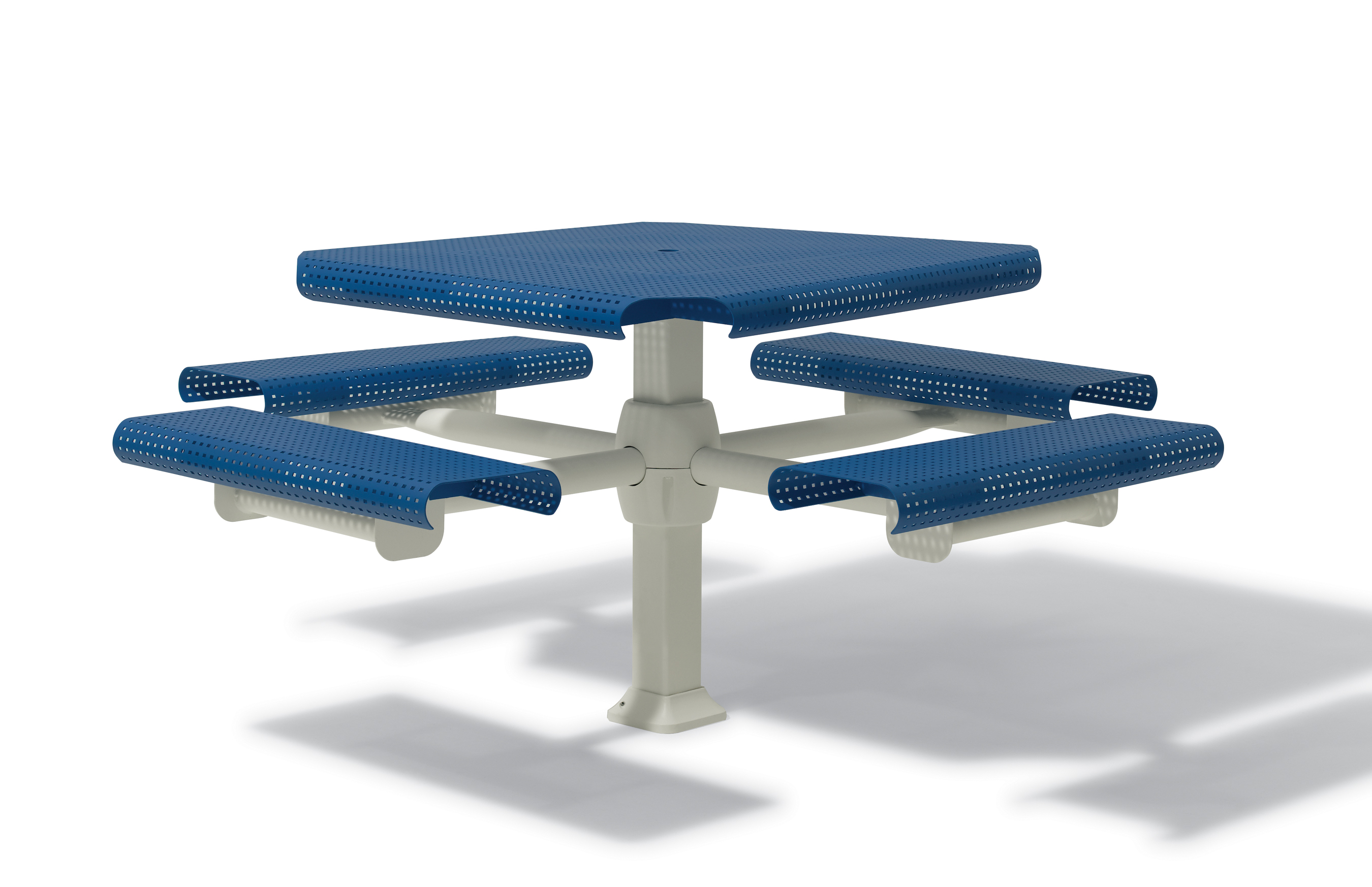 Portage Collection 46 Quot Square Picnic Table With 4