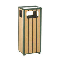R14SU50 Regent 12 Gallon Plastic Lumber Trash Receptacle with Sand Urn Top