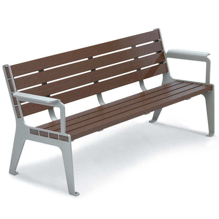 RCPMC6  Madison Collection 6' Recycled Plastic Contour Bench