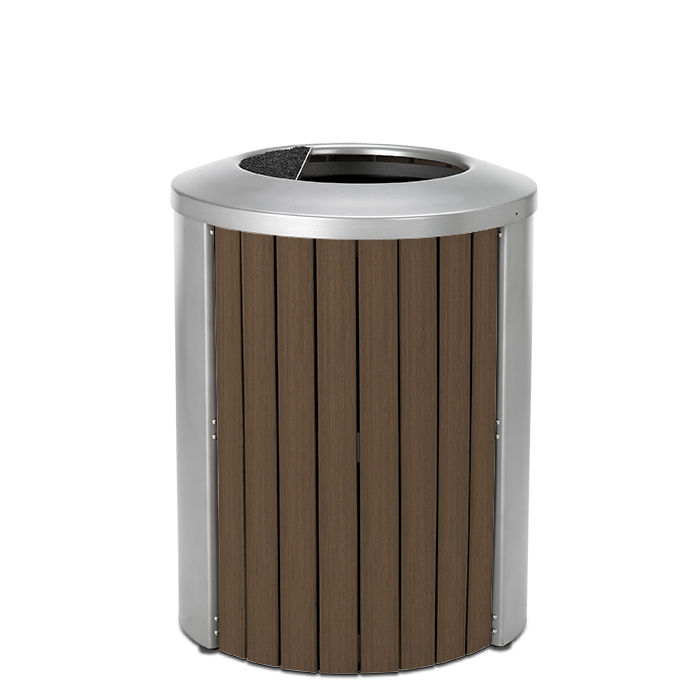 TL35AT  Madison Collection 35 Gallon Bamboo Trash Receptacle with Ash/Trash Top