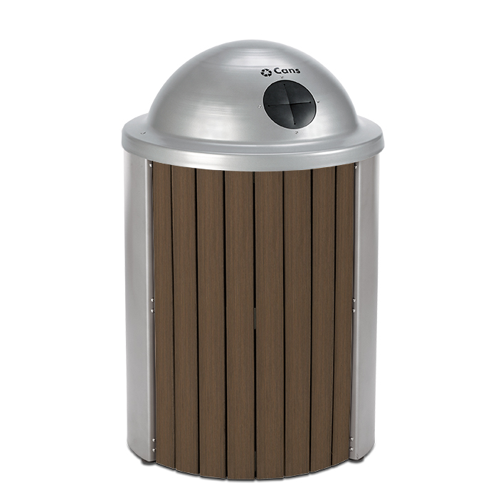 TL35RT  Madison Collection 35 Gallon Bamboo Receptacle with Recycling Top