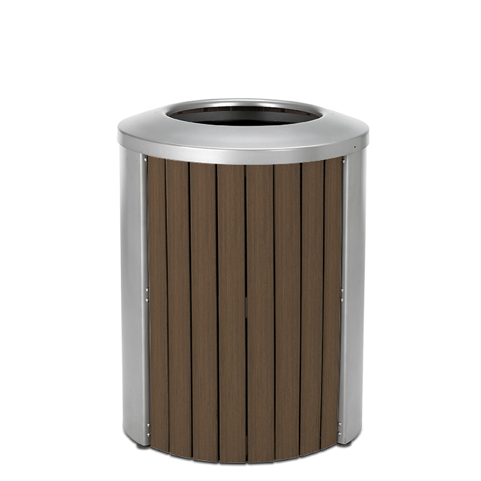 TL35OT  Madison Collection 35 Gallon Bamboo Trash Receptacle with Open Top