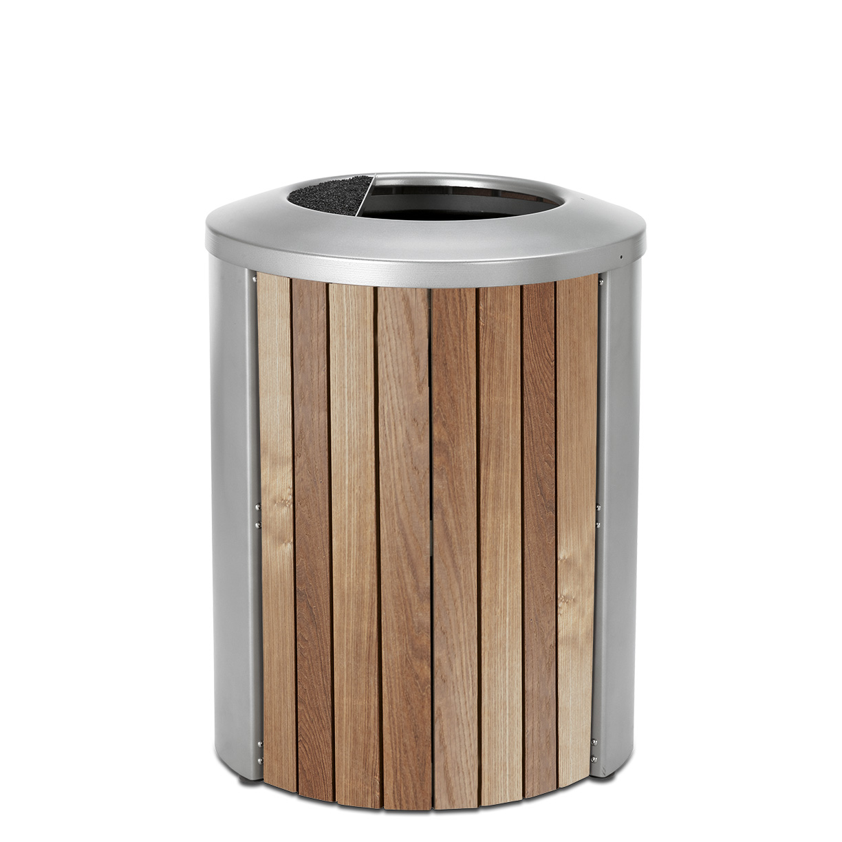 TT35AT  Madison Collection 35 Gallon Thermory Slat Open Top Ash/Trash Receptacle