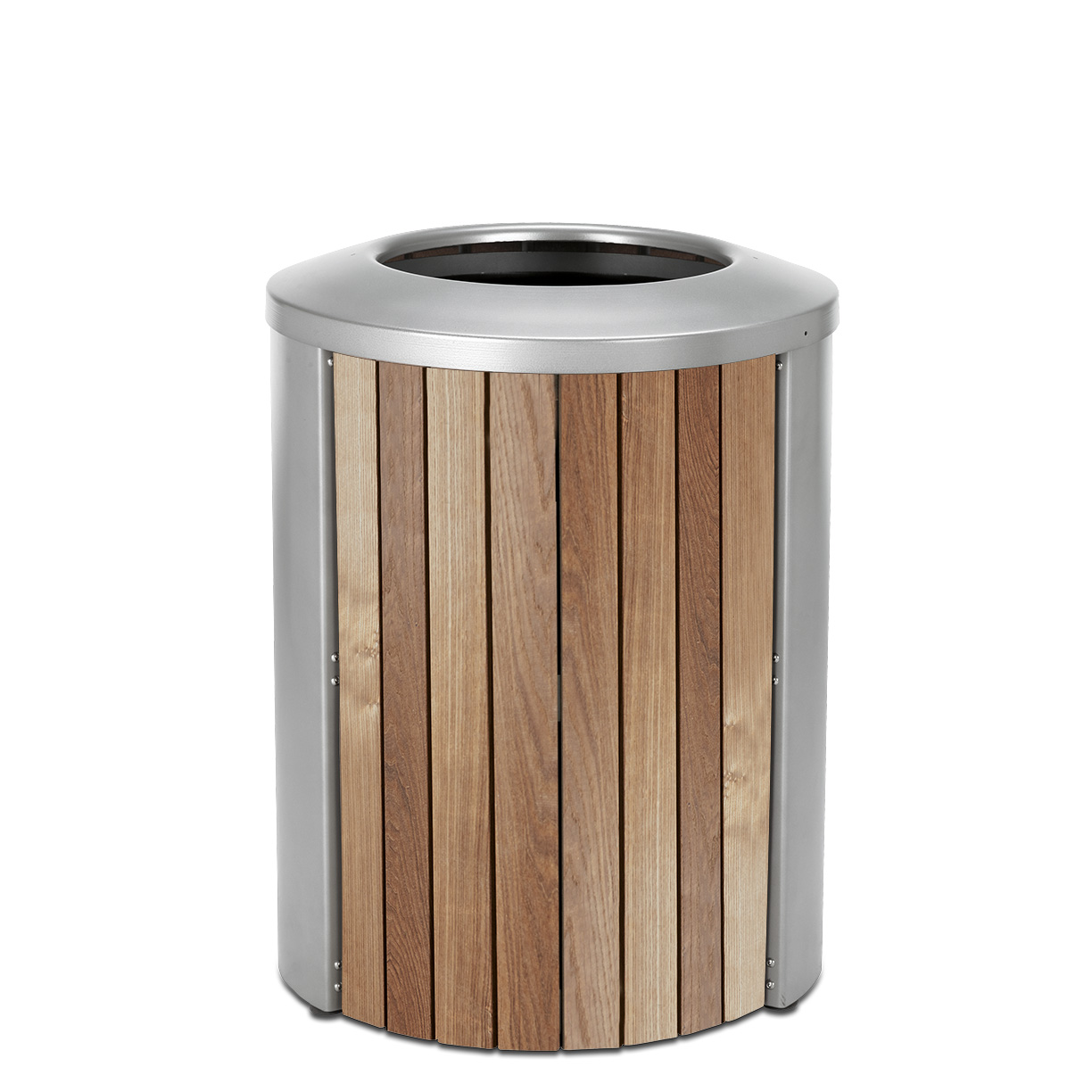 TT35OT  Madison Collection 35 Gallon Thermory Slat Open Top Trash Receptacle