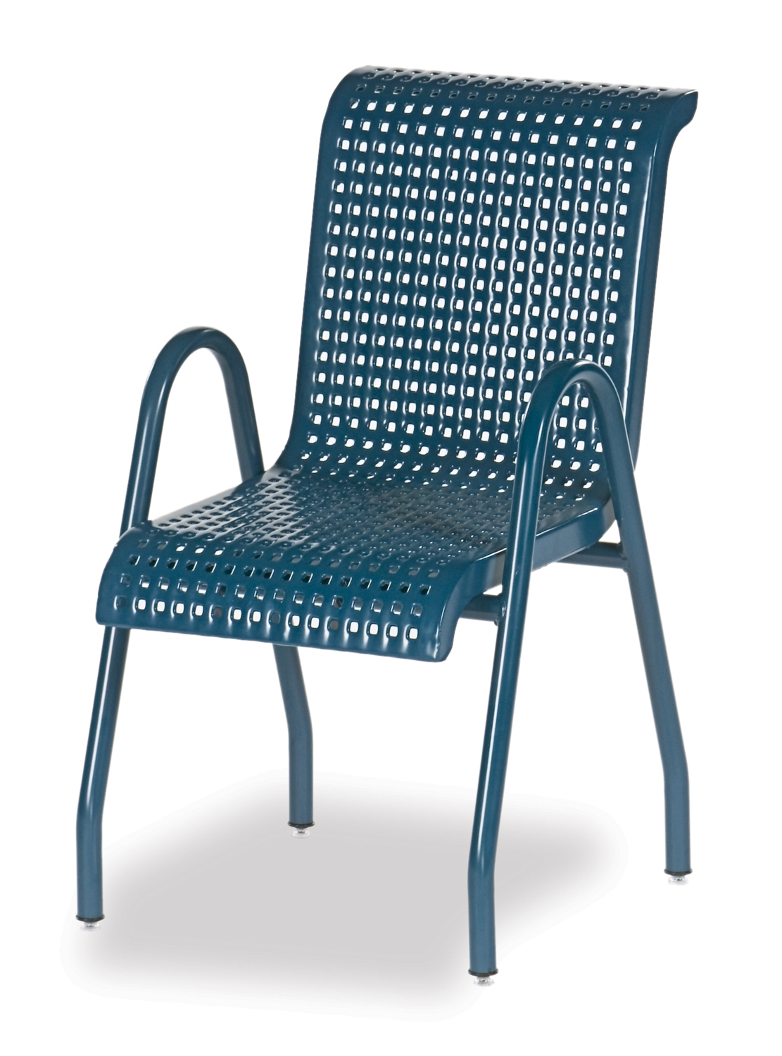 CM310N  Camino Collection Chair with Square Perforated Steel Seat (Stackable)