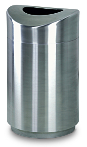 R2030SSS Eclipse Open Top Trash Receptacle with Stainless Steel Finish
