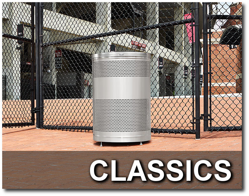 Classics Collection Stadium Trash Receptacles
