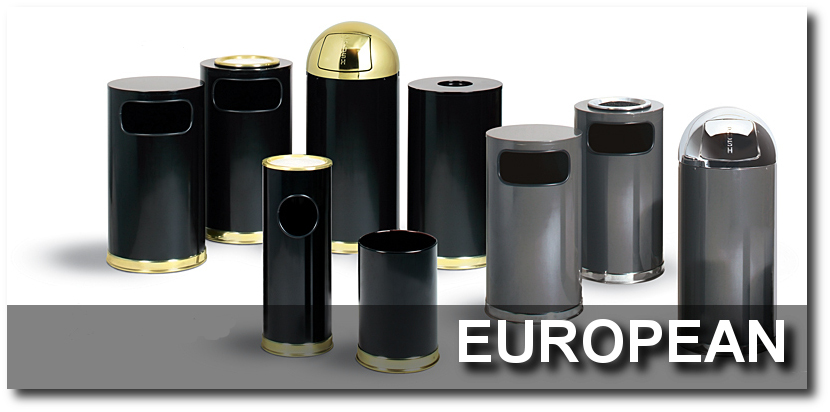 European Series Trash Receptacles