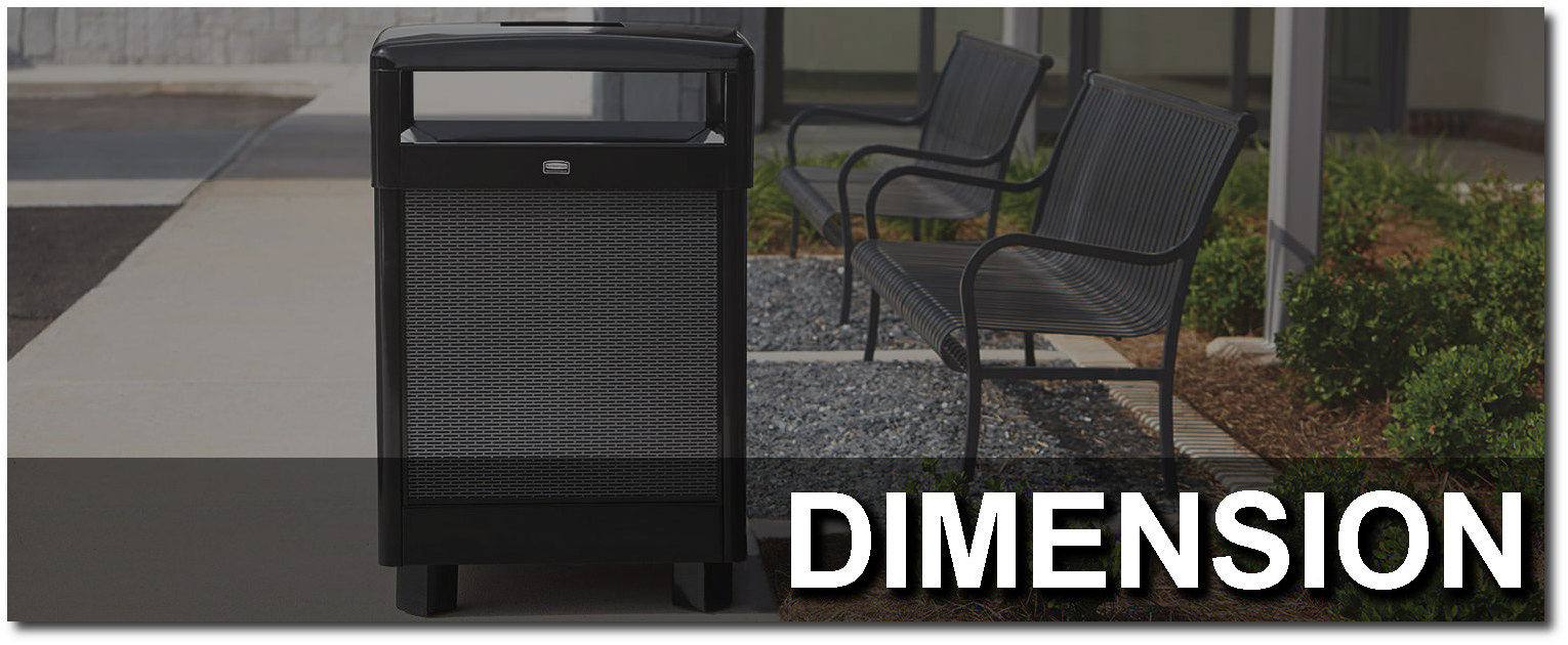 Dimension Series Contemporary Trash Receptacles