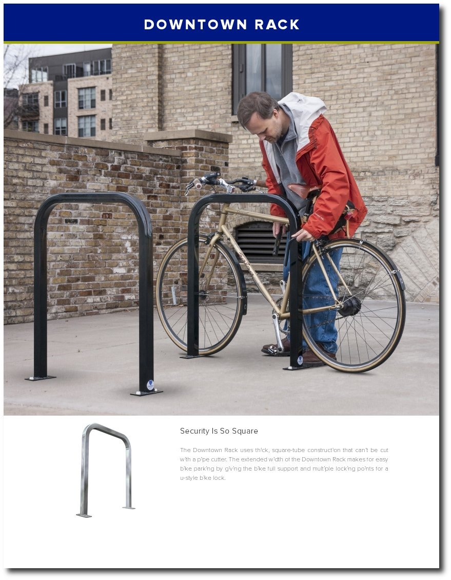 Downtown Bike Rack Cover Page