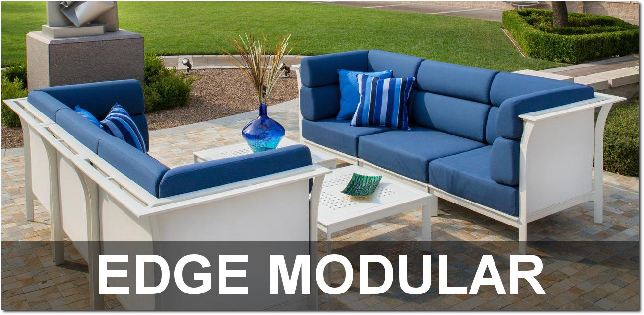 Edge Modular Cushion Collection Poolside Furnishings