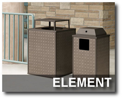 Element Collection Trash Receptacles