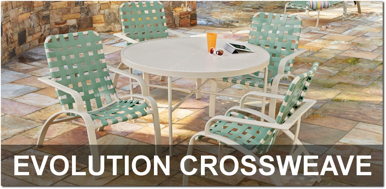 Evolution Crossweave Collection Outdoor Pool Furnishings