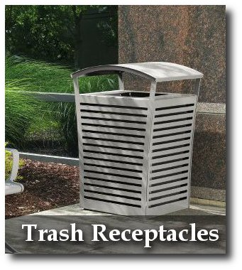 Exposition Collection Trash Receptacles