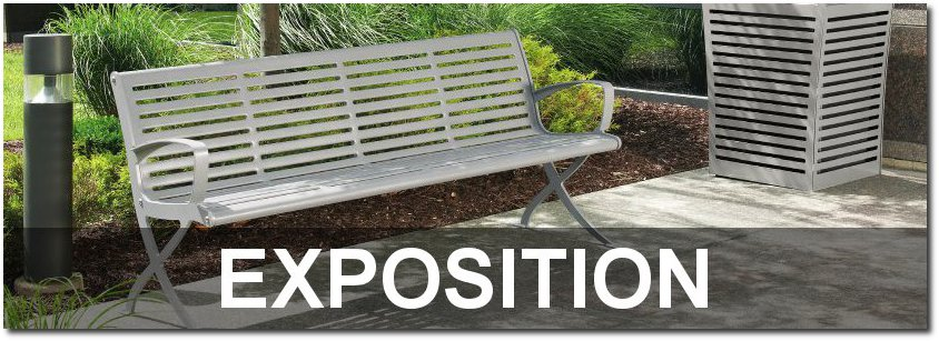 Exposition Collection Contemporary Outdoor Park Benches