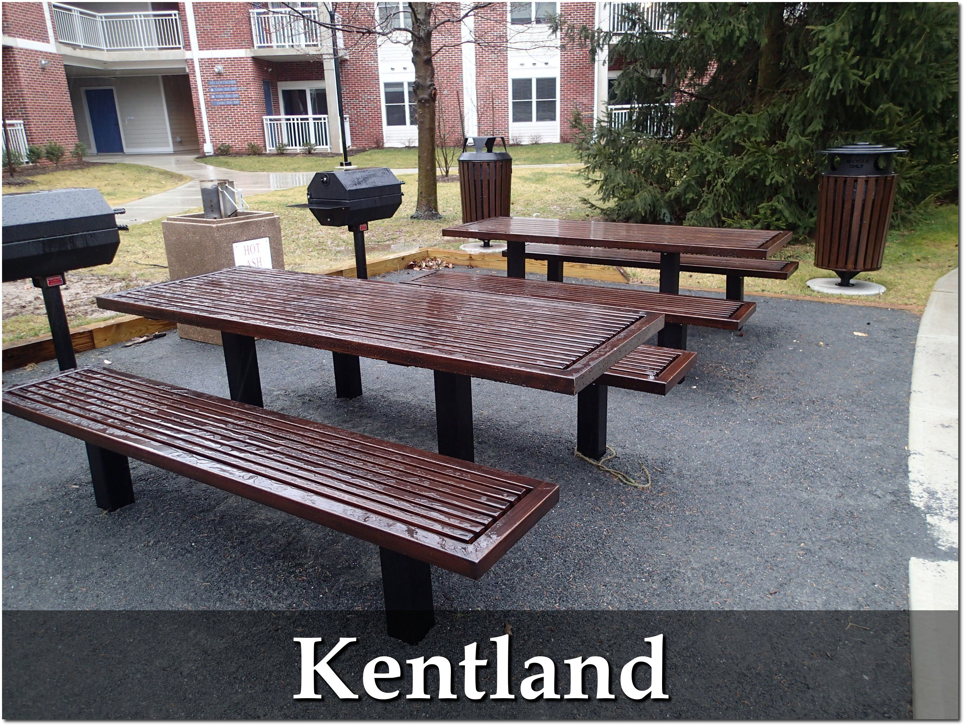 Kentland Collection Faux Wood Aluminum Tables