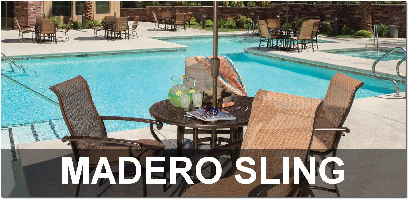 Madero Sling Collection Upscale Pool Furnishings