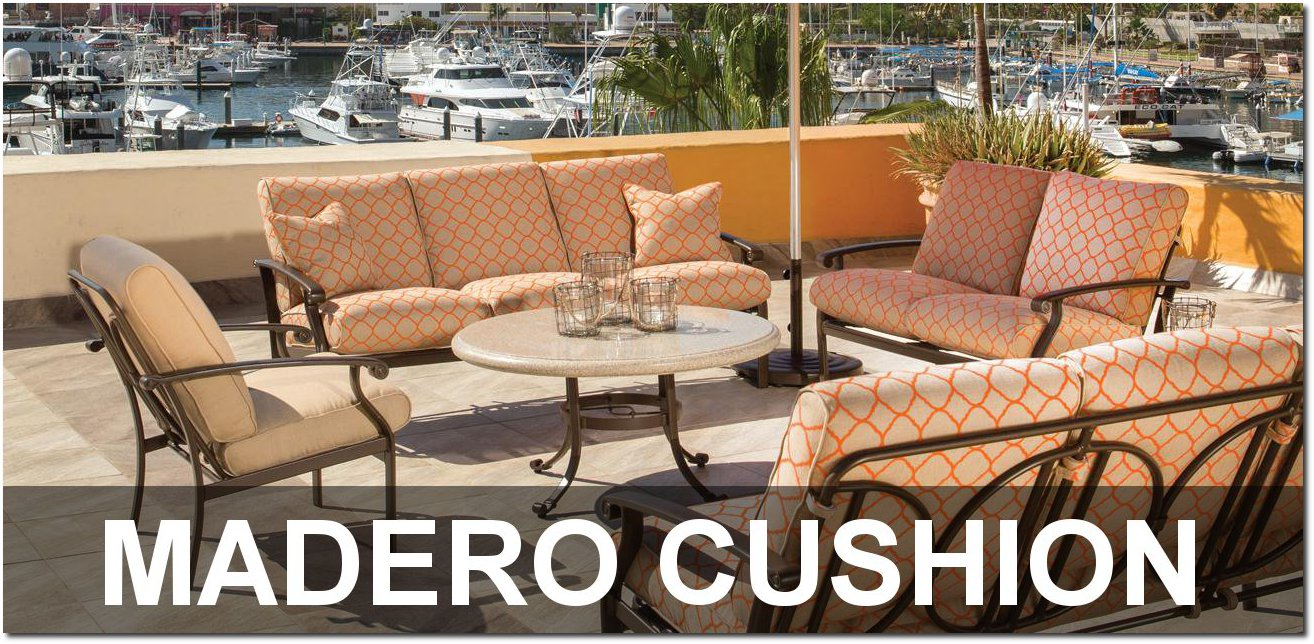 Madero Cushion Collection Upscale Poolside Furnishings